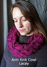 Arm Knit Lacey Cowl