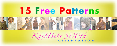 15 Free Patterns - KnitBits 500th Celebration