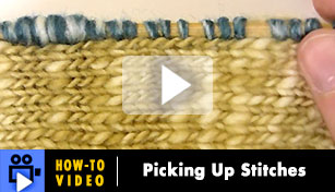 How-to Video: Picking Up Stitches
