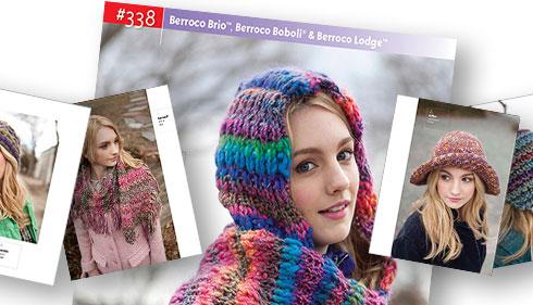 Booklet #338, Berroco Brio™, Berroco Boboli® & Berroco Lodge®