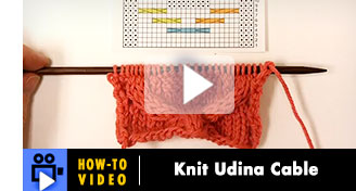 Hoe-to-Video: Knit Udina Cable