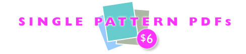 Single Pattern PDFs, $6.00 each