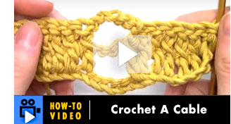 Hoe-to-Video: Crochet a cable