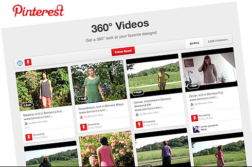 Pinterest, 360° View Videos