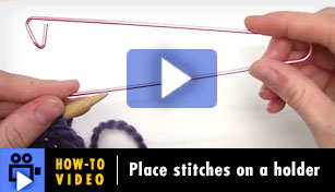 Hoe-to-Video: Place stitches on a holder