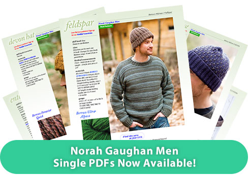 Norah Gaughan Men - Single PDFs Now Available!