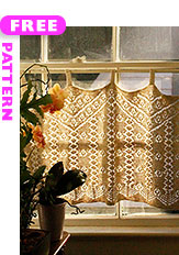 Christine's Curtains, free pattern