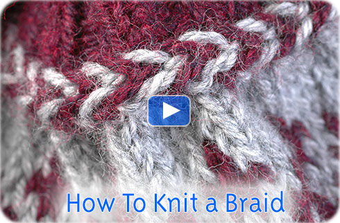 How To Knit a Braid video