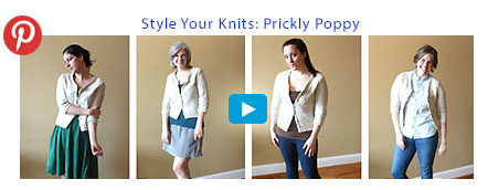 Style Your Knits: Prickly Poppy