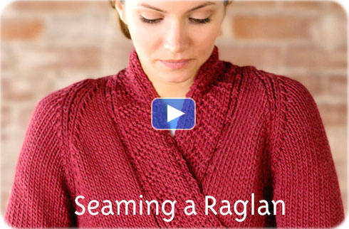 How To Video - Seaming a Raglan