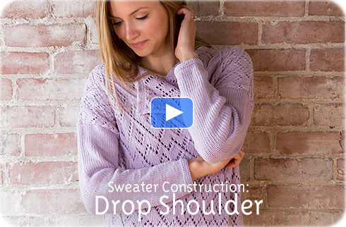 How To Video - Sweater Construction, Drop Shoulder