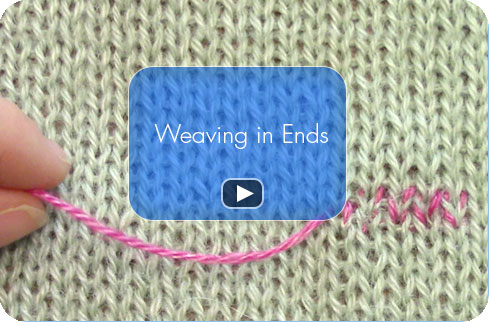 How To Video - Weaving in Ends