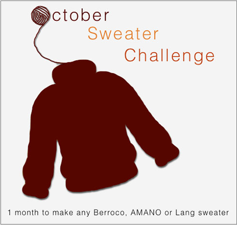 October Sweater Challenge.     Think you can make a sweater in a month? Join our October Sweater Challenge on Ravelry!