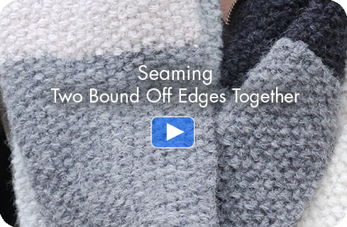 How-to Video - Seaming Two Bound Off Edges Together