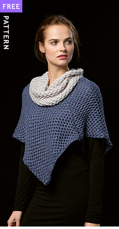 Free pattern - Capelet and Cowl, knit in Lang Yarns Amira