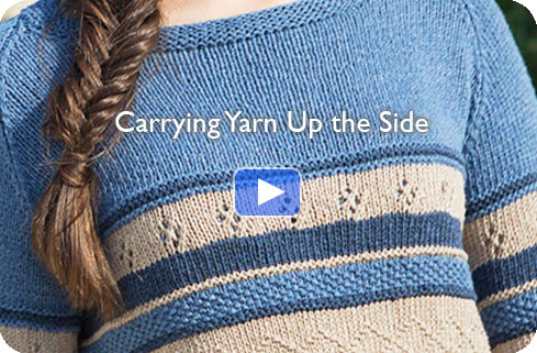 Video - Carrying Yarn Up the Side