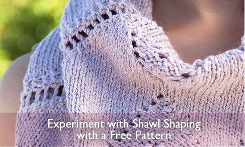 Experiment with Shawl Shaping with a Free Pattern