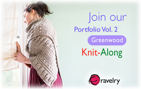 Join our Portfolio Vol. 2. Greenwood, Knit-Along.